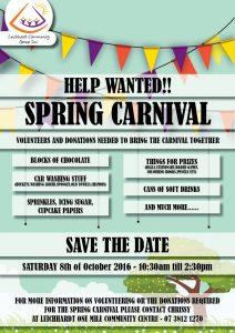 spring carnival flyer